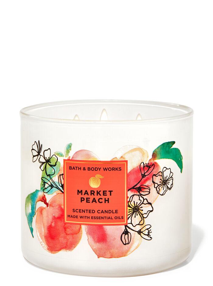 Market Peach fragranza Candela a 3 stoppini