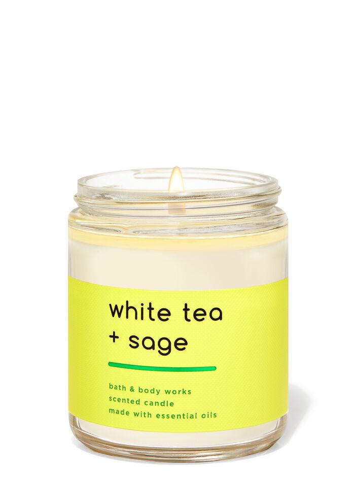 White Tea N Sage fragranza Candela a 1 stoppino