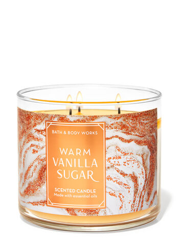 Warm Vanilla Sugar fragranza Candela a 3 stoppini