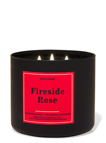 Fireside Rose fragranza Candela a 3 stoppini
