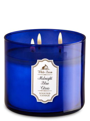 Midnight blue citrus fragranza Candela a 3 stoppini