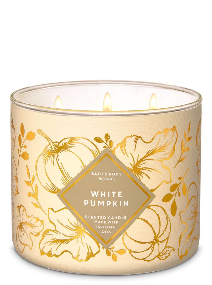 White Pumpkin fragranza Candela a 3 stoppini