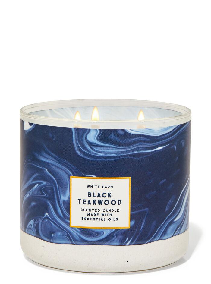Black Teakwood fragranza Candela a 3 stoppini
