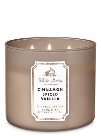 Cinnamon spiced vanilla fragranza Candela a 3 stoppini