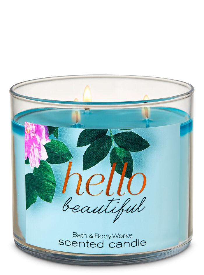 Hello Beautiful fragranza Candela a 3 stoppini