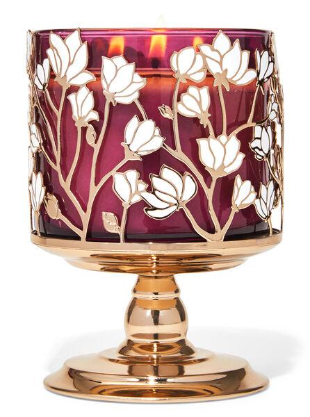 Piedistallo di magnolie fragranza Porta candela a 3 stoppini