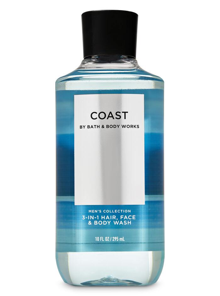 Mens coast fragranza Doccia shampoo 3 in 1