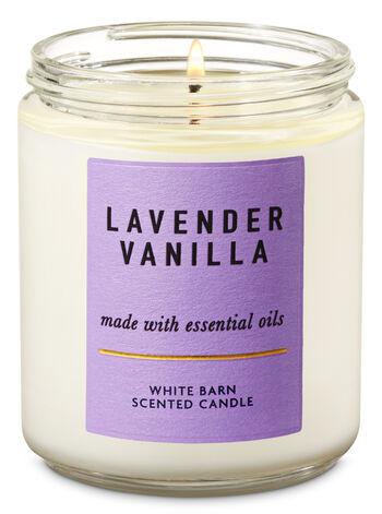Lavender Vanilla fragranza Single Wick Candle