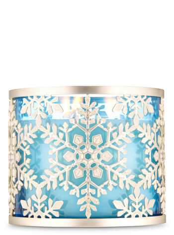 Sparkly Snowflake fragranza 3-Wick Candle Holder