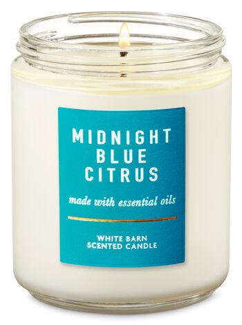 Midnight Blue Citrus fragranza Single Wick Candle
