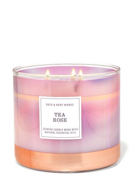 Tea Rose fragranza Candela a 3 stoppini