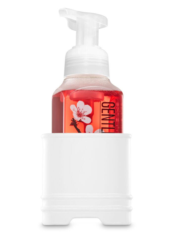 White Ceramic Square fragranza Hand Soap Half Sleeve