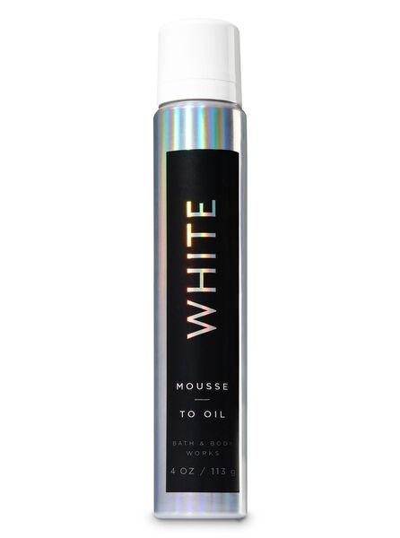 White fragranza Mousse-to-Oil