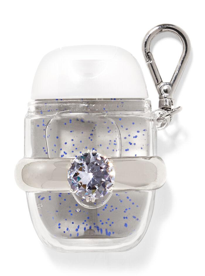 Anello con diamante fragranza Porta igienizzante mani