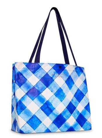 Gingham fragranza Canvas Tote Bag