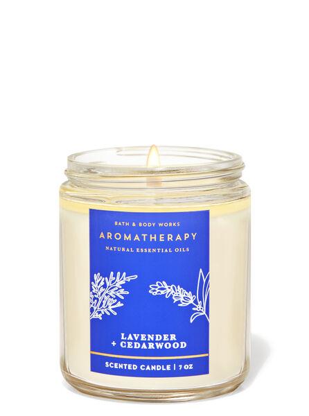 Lvender Cedrwood fragranza Candela a 1 stoppino