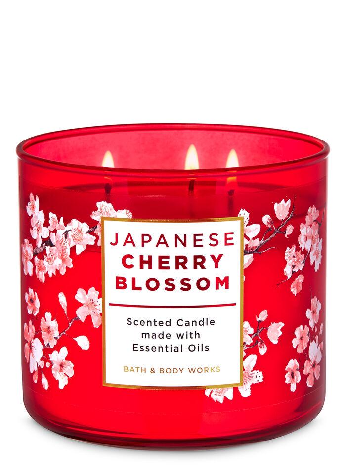 Japanese cherry blossom fragranza Candela a 3 stoppini