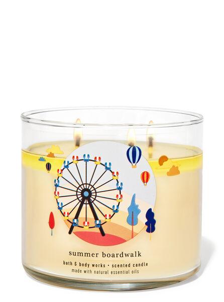 Summer Boardwalk fragranza Candela a 3 stoppini