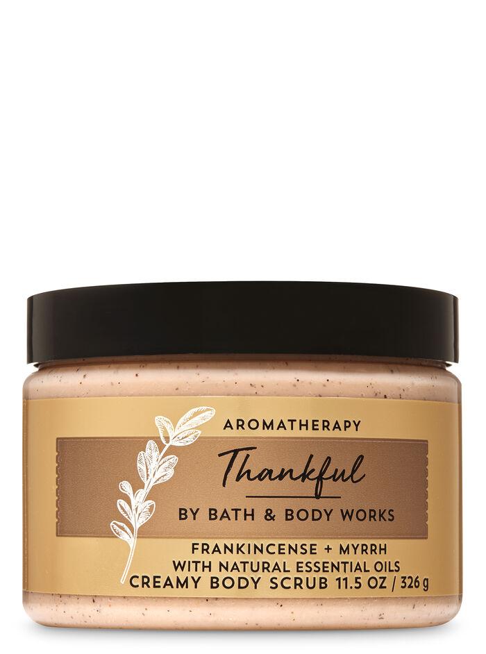 Frankincense Myrrh fragranza Creamy Body Scrub