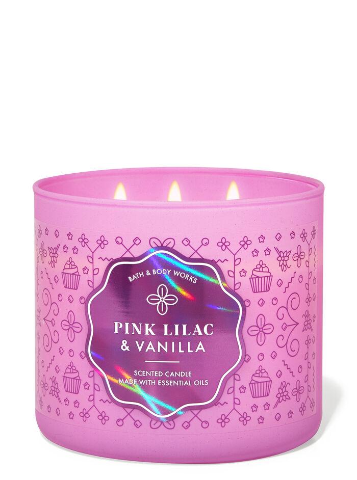 Pink Lilac & Vanilla fragranza Candela a 3 stoppini