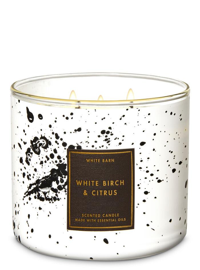 White Birch_Ctrus fragranza 3-Wick Candle