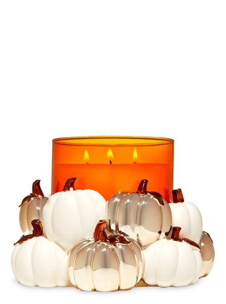 Modern Pumpkins fragranza 3-Wick Candle Holder