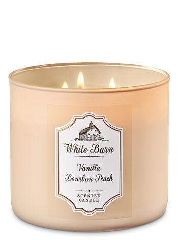 Van Bourbon Peach fragranza Candela a 3 stoppini