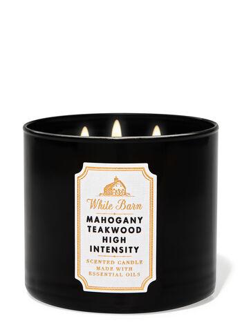 Mahogany Teakwood High Intensity fragranza 3-Wick Candle