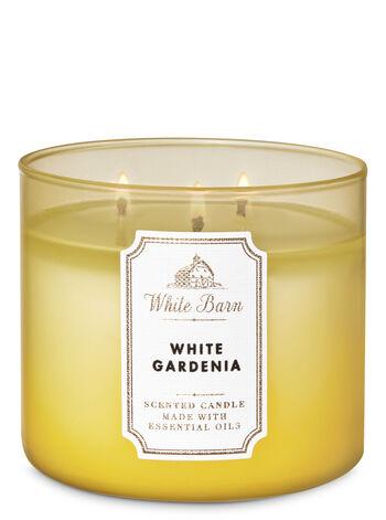 White Gardenia fragranza 3-Wick Candle