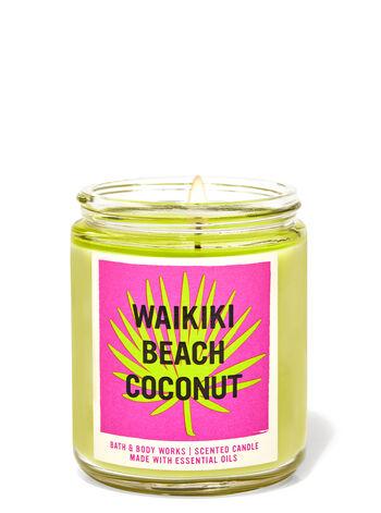 Waikiki Beach Coconut fragranza Candela a 1 stoppino