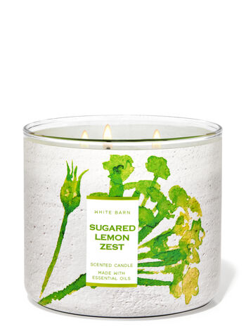 Sugared Lemon Zest fragranza Candela a 3 stoppini