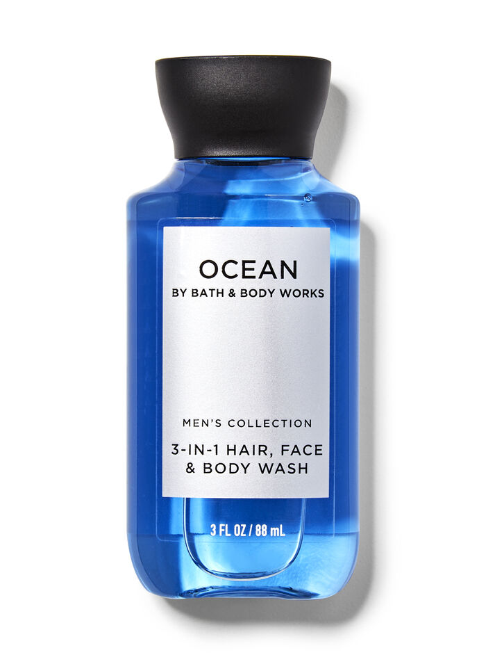 Ocean men fragranza Mini Gel doccia shampoo 3 in 1
