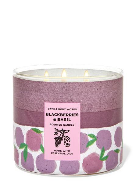 Blackberries & Basil fragranza Candela a 3 stoppini