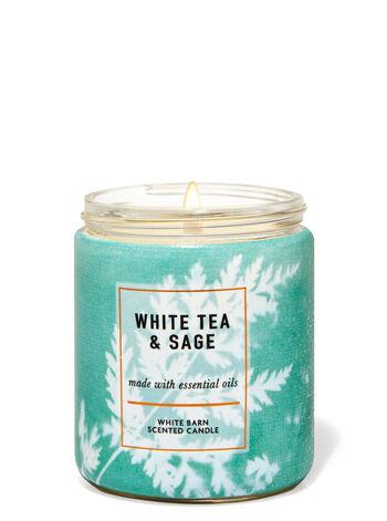 White Tea & Sage fragranza Candela a 1 stoppino