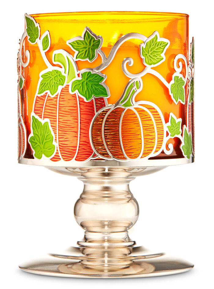 Pumpkin Patch Pedestal fragranza 3-Wick Candle Holder
