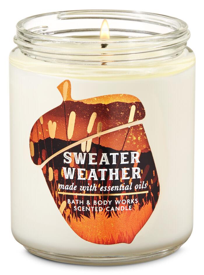 Sweater Weather fragranza Single Wick Candle