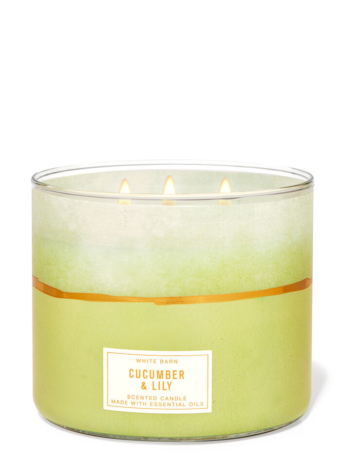 Cucumber & Lily fragranza Candela a 3 stoppini