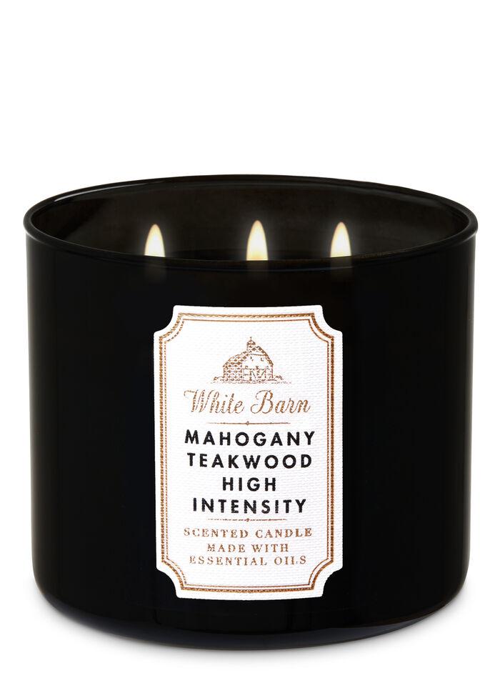 Mahogany Teakwood Extreme fragranza Candela a 3 stoppini