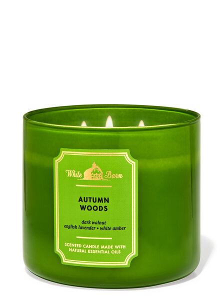 Autumn Woods fragranza Candela a 3 stoppini