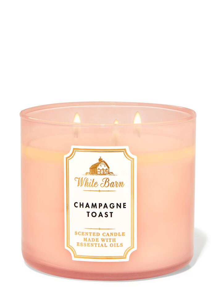Champagne Toast fragranza 3-Wick Candle