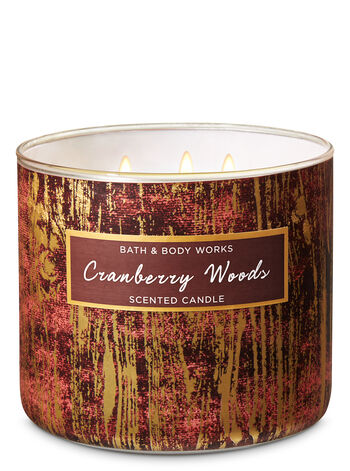 CRANBERRY WOODS fragranza Candela a 3 stoppini