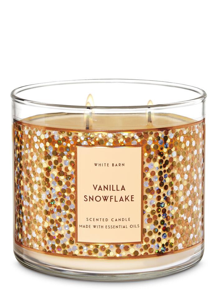 VANILLA SNOWFLAKE fragranza Candela a 3 stoppini
