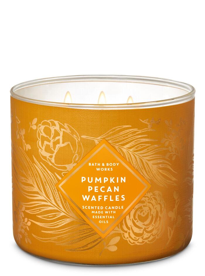 Pumpkin Pecan Waffles fragranza 3-Wick Candle