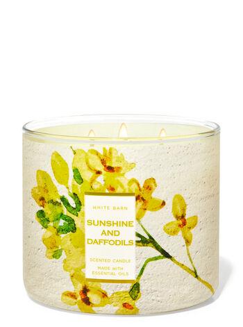 Sunshine & Daffodils fragranza Candela a 3 stoppini