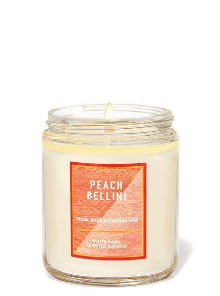 PEACH BELLINI fragranza Candela a 1 stoppino