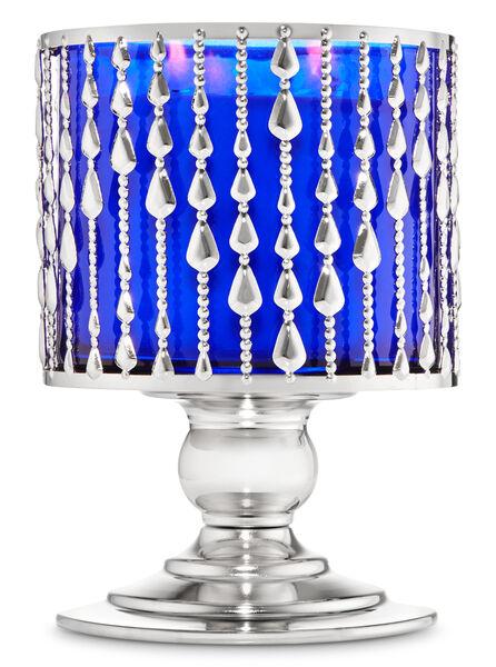 Beaded Pedestal fragranza 3-Wick Candle Holder