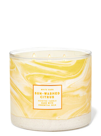 Sunwashed Citrus fragranza Candela a 3 stoppini
