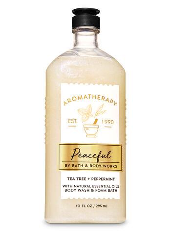 Tea Tree Peppermint fragranza Body Wash and Foam Bath