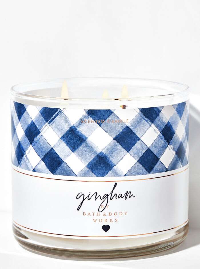 Gingham fragranza 3-Wick Candle