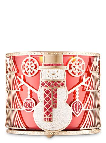 Geometric Snowman fragranza Porta candela a 3 stoppini